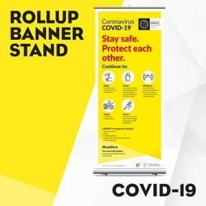 Covid-19 Rollup Banner