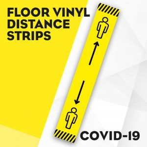 Floor Vinyl Distance Strip