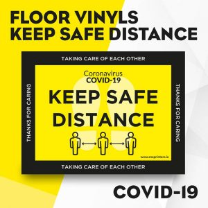 Keep Safe Distance Floor Vinyls