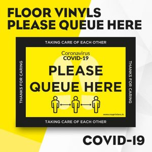 Please Queue Here Floor Vinyls