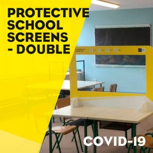 "Protective School Screens – Double – <font color=""#ff6600"">from €45 each</font>"