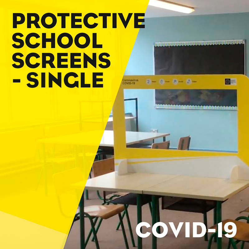 Covid-19 Protective School Screens single